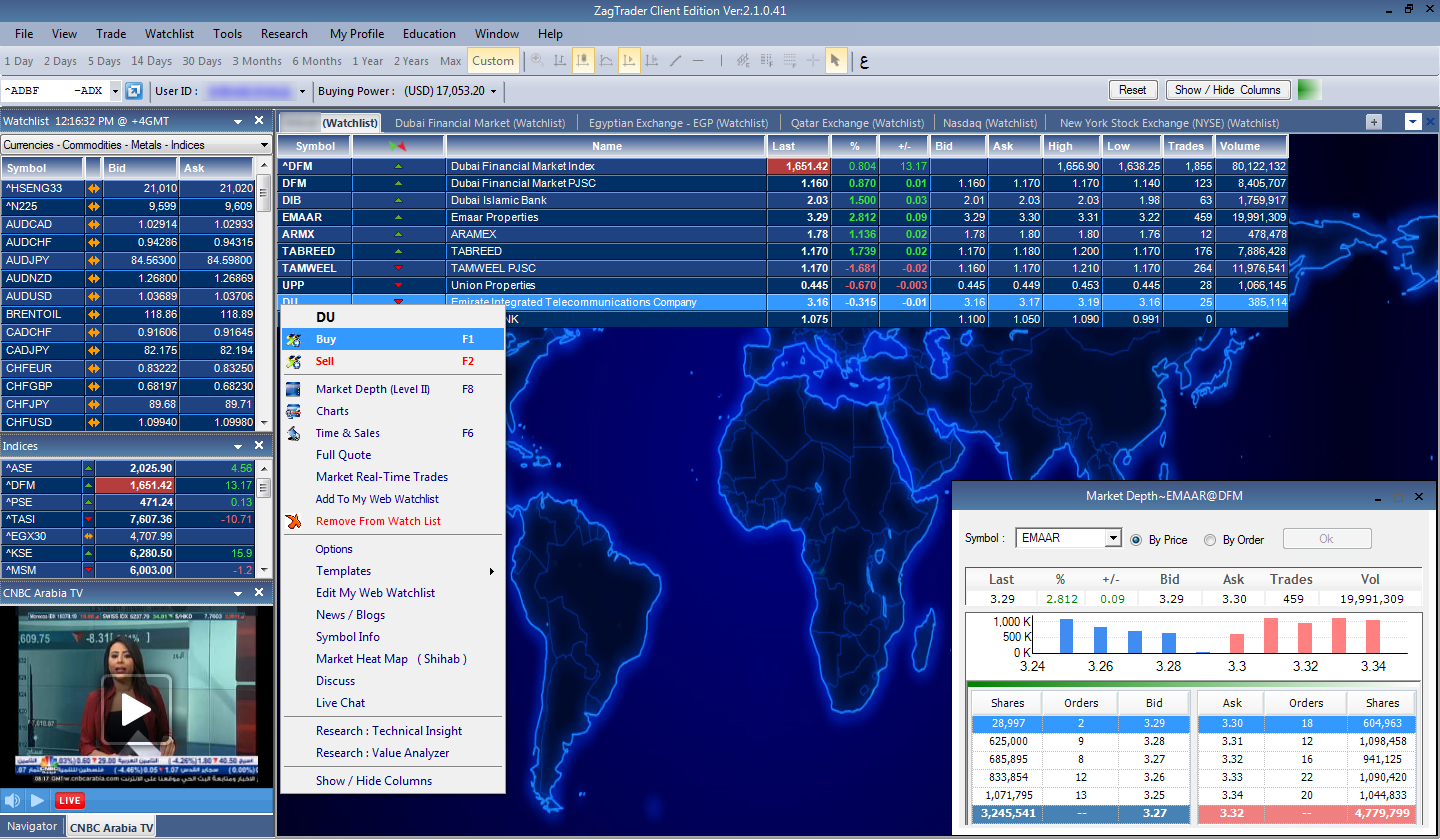 Stock trading workstation tool